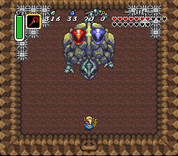 Legend of Zelda, The - A Link to the Past - final tampal boss, the elemental turtle - User Screenshot